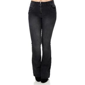 Calça Jeans Flare Feminina Zune Preto 38