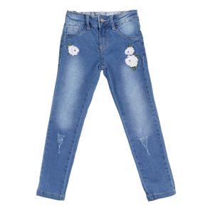 Calça Jeans Infantil para Menina - Azul 6