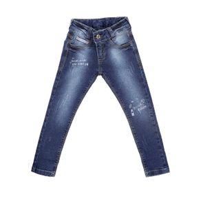 Calça Jeans Infantil para Menina - Azul 4