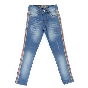 Calça Jeans Infantil para Menina - Azul 8