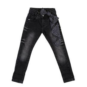 Calça Jeans Infantil para Menina - Preto 8