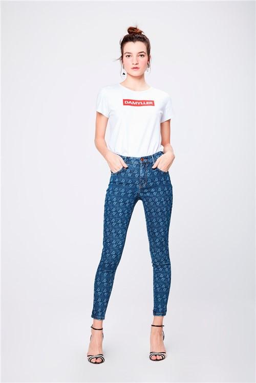 Calça Jeans Jegging com Repetições
