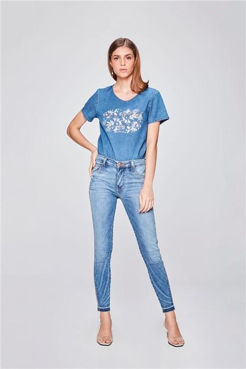 Calça Jeans Jegging Cropped Feminina