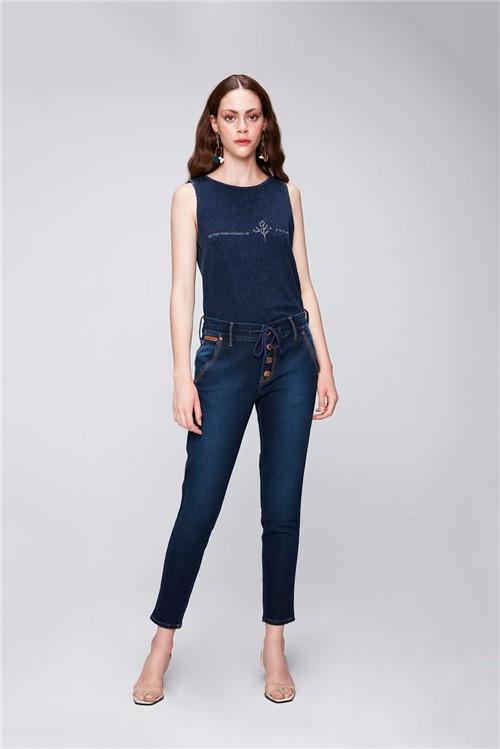 Calça Jeans Jogger Cropped Feminina