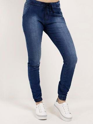 Calça Jeans Jogger Feminina Amuage Azul