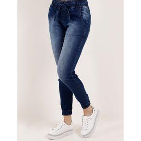 Calça Jeans Jogger Feminina Mokkai Azul 36