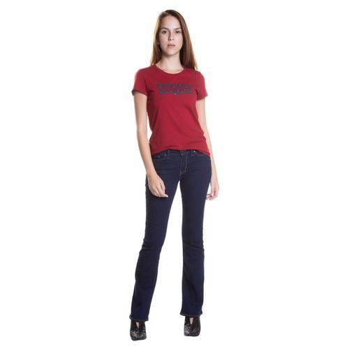 Calça Jeans Levis Feminina 715 Bootcut Azul Escuro