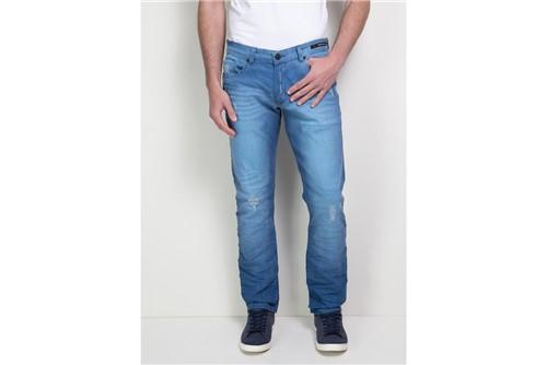 Calça Jeans Londres Blue Royal - Destroyed/Used - 46