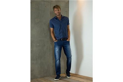 Calça Jeans Londres com Liocel - Azul - 44