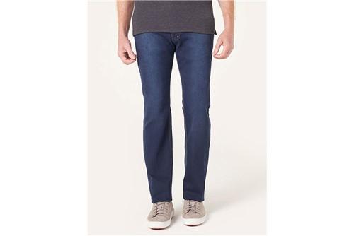 Calça Jeans Londres Contraste Linha - Azul - 42