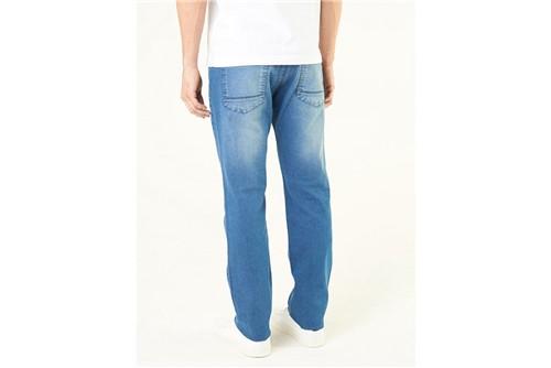 Calça Jeans Londres Delavê Pesponto - Azul - 38