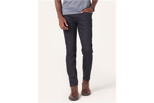 Calça Jeans Londres Detalhe Pesponto - Azul - 38
