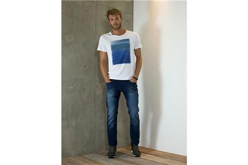 Calça Jeans Londres Moletom - Azul - 48