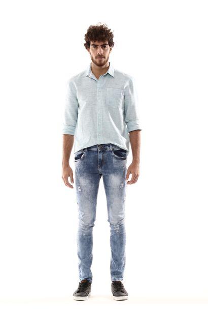 Calça Jeans Masculina Skinny - 254515 36