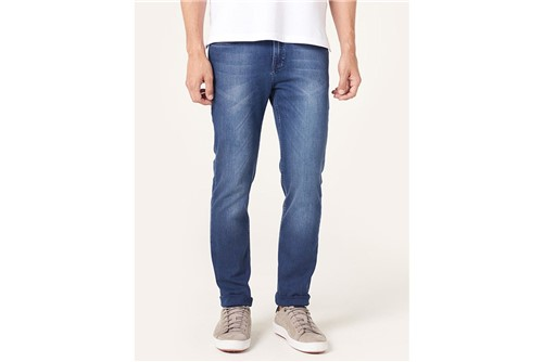 Calça Jeans Milão Contraste - Azul - 38