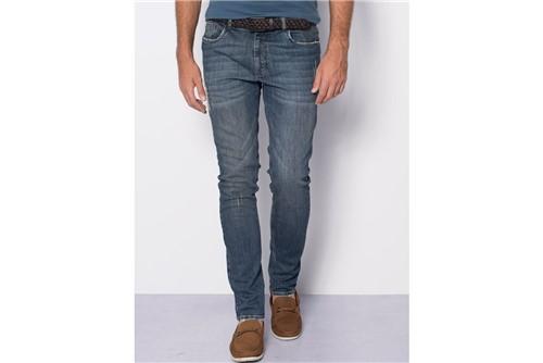 Calça Jeans Milão Dirty com Patch - Azul - 48