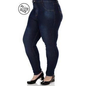 Calça Jeans Plus Size Feminina Azul 42