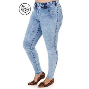 Calça Jeans Plus Size Feminina Azul 44