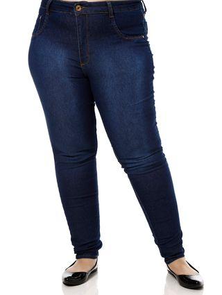 Calça Jeans Plus Size Feminina Azul