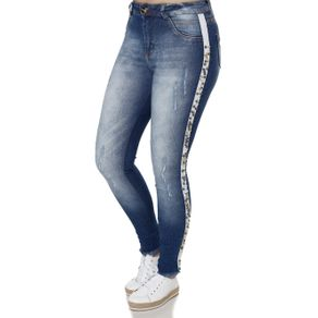 Calça Jeans Skinny Feminina Azul 42
