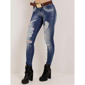 Calça Jeans Skinny Feminina Azul 34