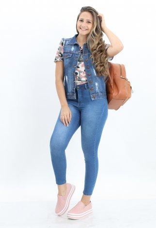 Calça Jeans Skinny Feminina - Azul