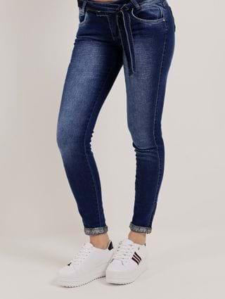 Calça Jeans Skinny Feminina Azul