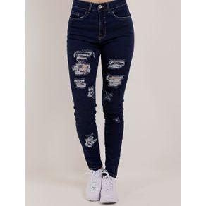 Calça Jeans Skinny Feminina Lunender Azul 40