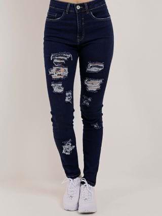 Calça Jeans Skinny Feminina Lunender Azul