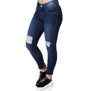Calça Jeans Skinny Feminina Über Azul 40