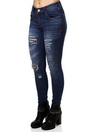 Calça Jeans Skinny Feminina Uber Azul