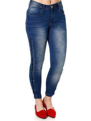 Calça Jeans Skinny Feminina Über Azul