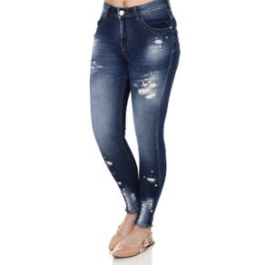 Calça Jeans Skinny Feminina Zune Azul 44