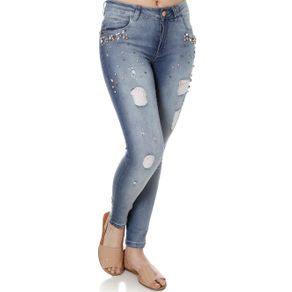 Calça Jeans Skinny Feminina Zune Azul 38