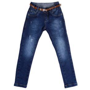 Calça Jeans Skinny Infantil para Menina - Azul 4