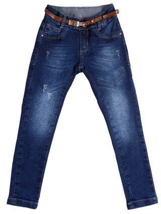 Calça Jeans Skinny Infantil para Menina - Azul
