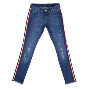 Calça Jeans Skinny Juvenil para Menina - Azul 12