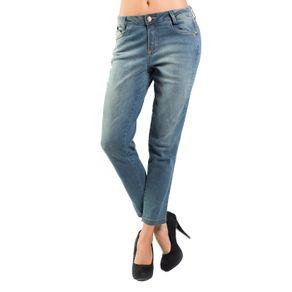 Calça Jeans Skinny Slim Cintura Alta Realist 42