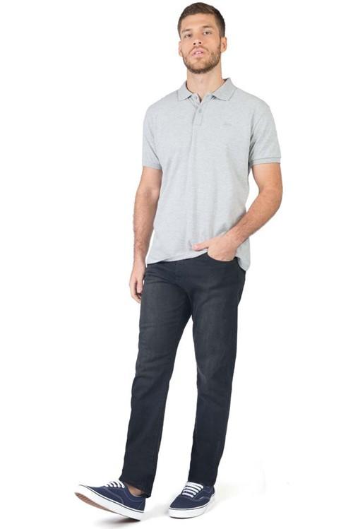 Calça Jeans Straight Flex Black BLACK/38