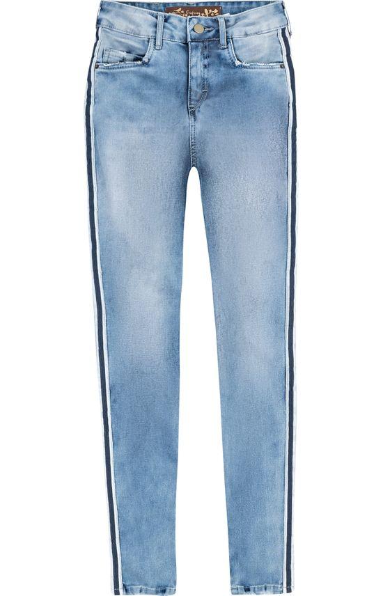 Calça Jeans Super Skinny Cintura Alta Enfim Azul Claro - 34