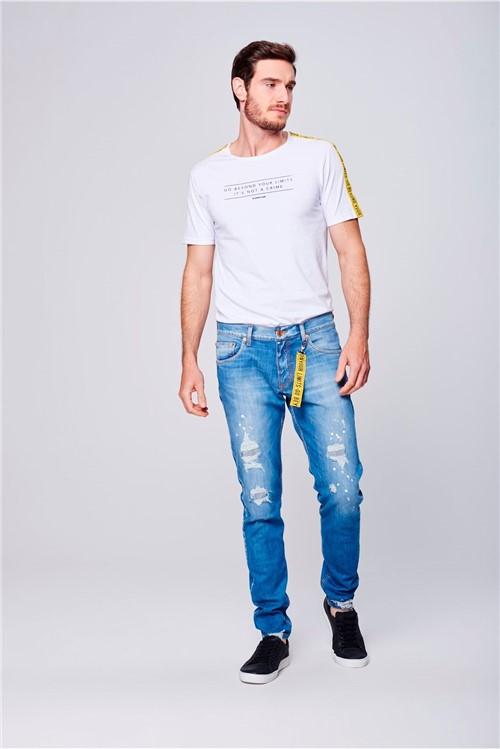 Calça Jeans Super Skinny com Chaveiro
