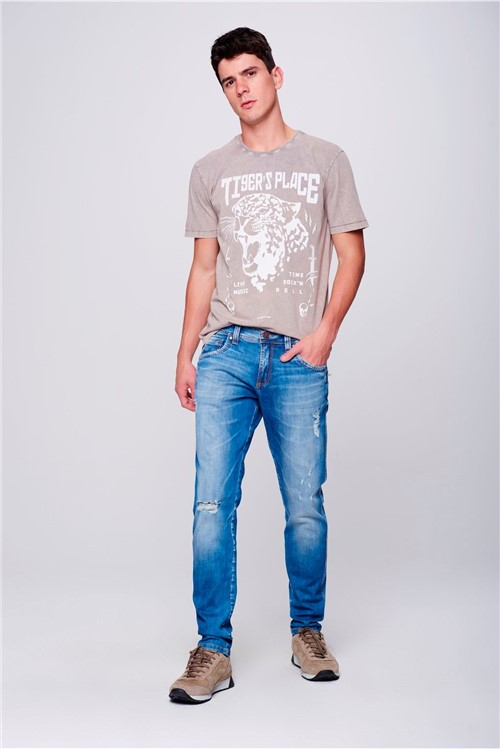 Calça Jeans Super Skinny Destroyed