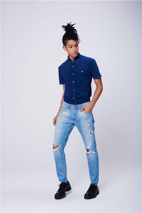Calça Jeans Super Skinny Rasgada