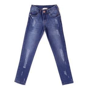 Calça Jeans Uber Juvenil para Menina - Azul 10