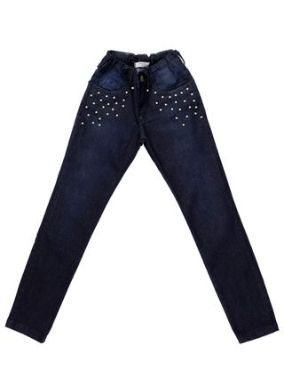Calça Jeans Uber Juvenil para Menina - Azul
