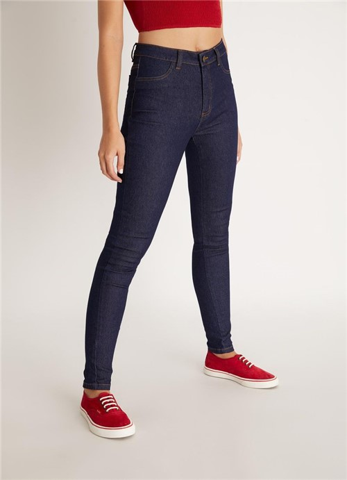 Calça Jegging Cintura Alta Jeans 38