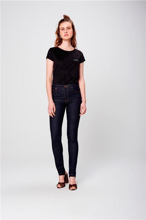 Calça Jegging Jeans Básica Cintura Alta