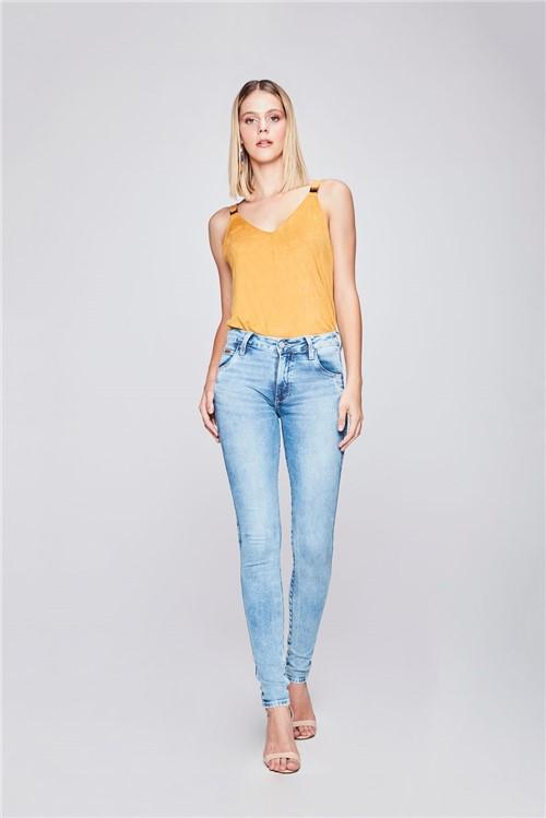 Calça Jegging Jeans Claro Feminina