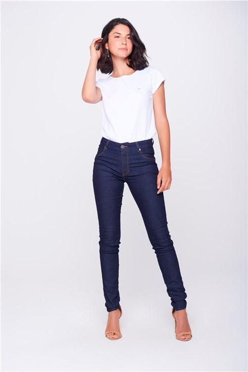 Calça Jegging Jeans com Bolsos Embutidos