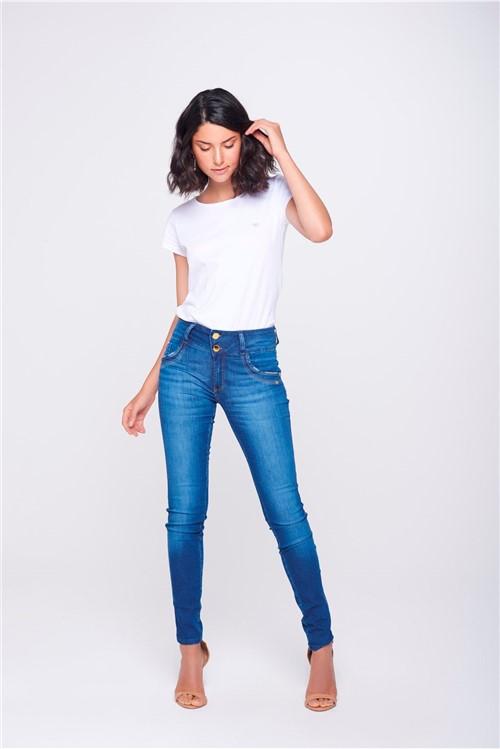 Calça Jegging Jeans com Cós Largo